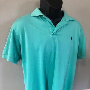 Polo by Ralph Lauren Shirts - Polo Ralph Lauren Logo Shirt Rugby Teal Blue Neon
